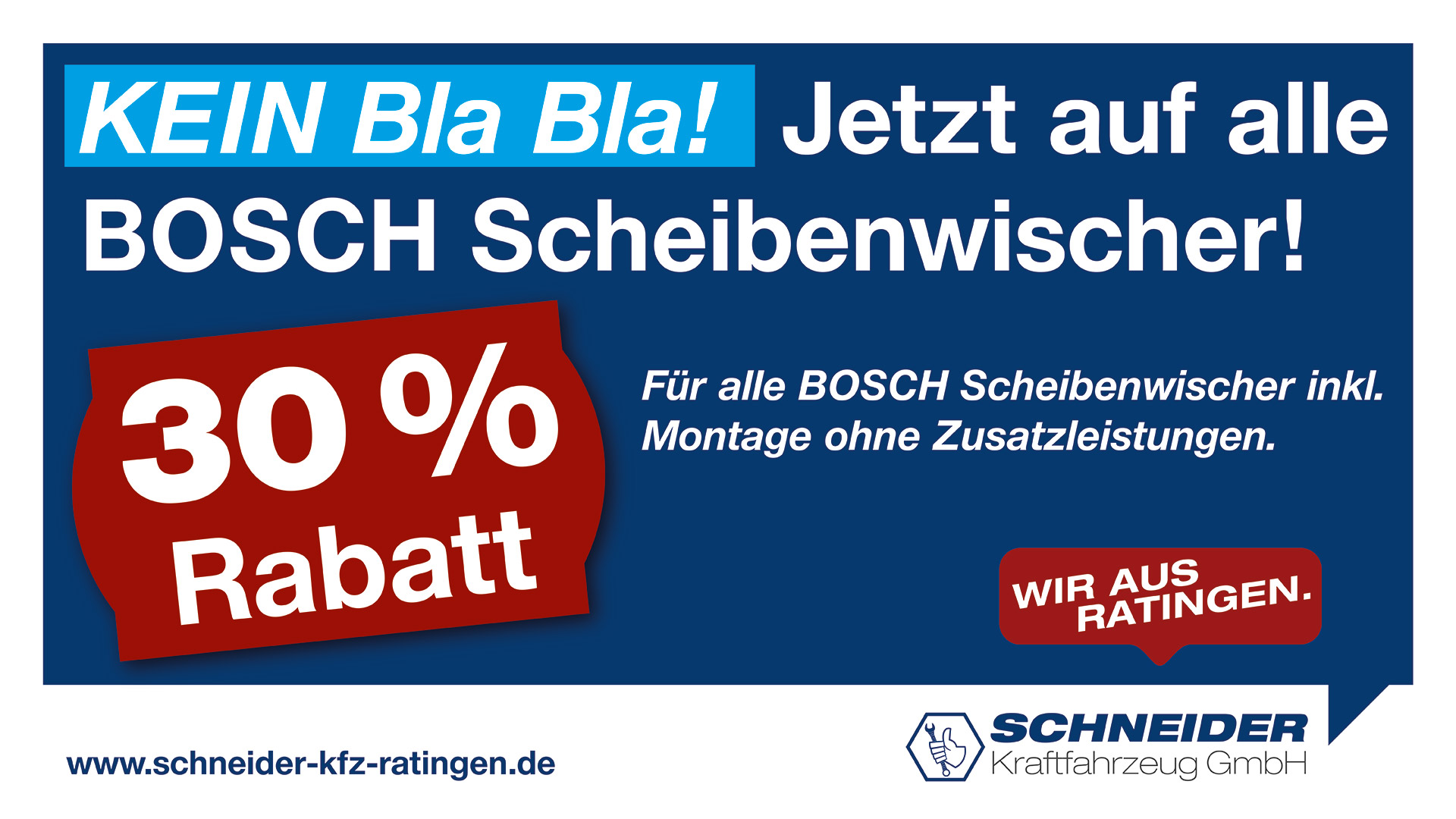 Scheibenwischer Rabatt | Schneider Kraftfahrzeug GmbH - Ratingen